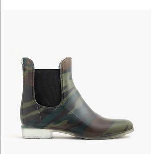 J.Crew Chelsea Camo rain boots